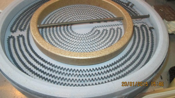 Конфорка для стеклокерамической плиты аристон, с ленточной спиралью