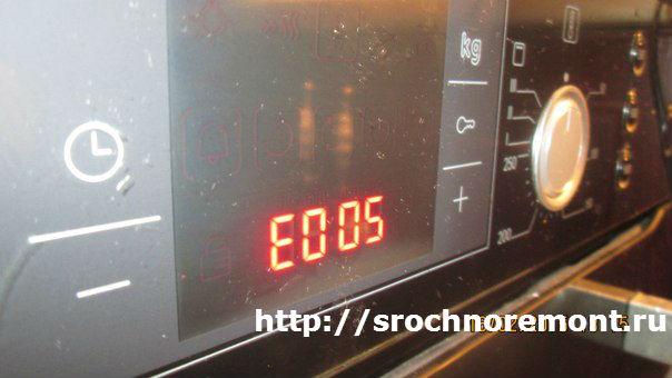 Ошибка e005 в духовках бош, сименс, нефф