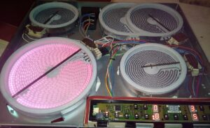 Ремонт варочных панелей с горячими конфорками