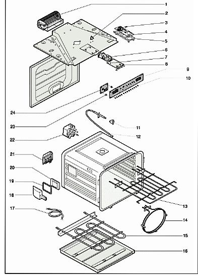 Устройство и детальное описание обычной бытовой электродуховки