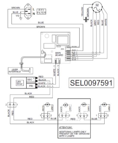 Стандартная электрическая схема кухонной вытяжки