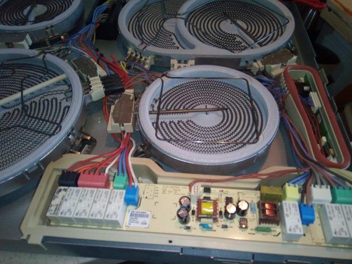 Ошибка E 6 Aeg Electrolux Zanussi с индукционными рамками