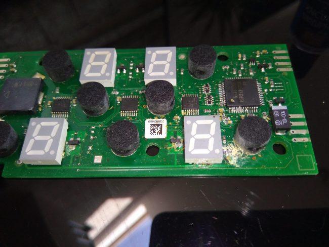 ремонт панели сенсоров плиты горенье