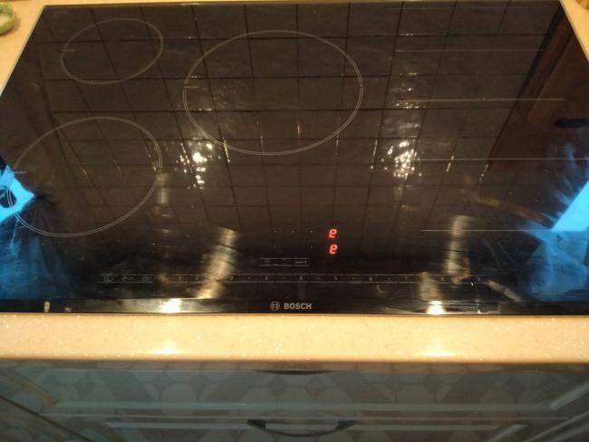 ремонт ошибки e - 1 варочных плит Bosch Siemens NEFF Gaggenau